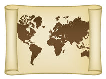 Historical world map. See also my gallery Royalty Free Stock Image