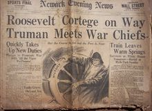 Historical World War Headlines. Actual Newspapers from 1941 with World War Headlines. Frontpages royalty free stock image