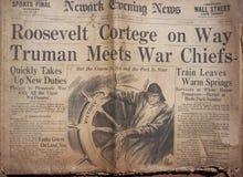 Historical World War Headlines royalty free stock image