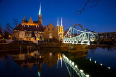 Historical wroclaw center Stock Photography