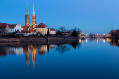 Historical wroclaw center Royalty Free Stock Photo
