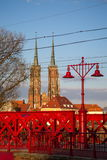 Historical wroclaw center Royalty Free Stock Photography