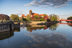 Historical wroclaw center Royalty Free Stock Image