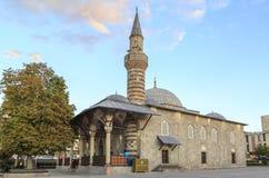 Historical Yakutiye mosque in Erzurum, Turkey. During evening stock photo