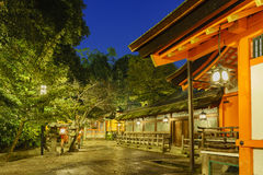 The historical Yasaka Shrine. At night, Kyoto, Japan Royalty Free Stock Photo