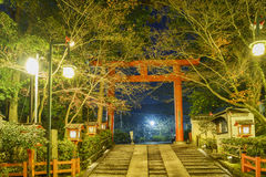 The historical Yasaka Shrine. At night, Kyoto, Japan Royalty Free Stock Photos