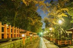 The historical Yasaka Shrine. At night, Kyoto, Japan Royalty Free Stock Images