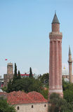Historical Yivli minaret, downtown of Antalya Stock Image