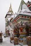 Izmailovo Kremlin in Moscow, Russia. Historically cultural sights of the Izmailovo Kremlin in Moscow, winter, Russia, Maslenitsa Stock Photography