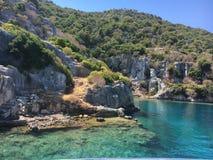 Historicalsites delle rocce della laguna della natura del mare fotografia stock libera da diritti