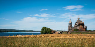 Historico-architectural museum in Kizhi, Karelia Royalty Free Stock Image