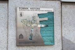 Historiemonument för den i stadens centrum modernistiska stads- orienteringen av Gdynia Arkivfoto