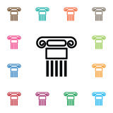 Historiesymbol Pelarvektorbeståndsdelen kan användas för pelaren, historia, kolonndesignbegrepp vektor illustrationer