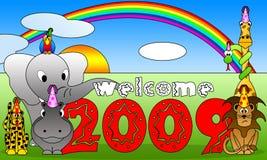 historieta 2009 ilustración del vector