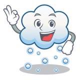 Historieta aceptable del carácter de la nube de la nieve Fotografía de archivo