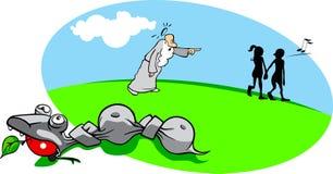 Historieta Adán y Eva stock de ilustración