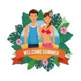 Historieta agradable del verano ilustración del vector