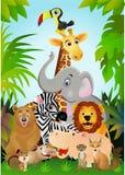 Historieta animal Imágenes de archivo libres de regalías