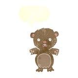 historieta asustada del oso de peluche con la burbuja del discurso Imagen de archivo libre de regalías
