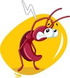 Historieta asustada del vector de insecto de la cucaracha Imagen de archivo libre de regalías