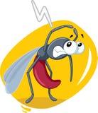Historieta asustada del vector de insecto del mosquito Fotografía de archivo libre de regalías
