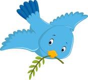 Historieta azul linda del pájaro Foto de archivo