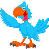 Historieta azul linda del pájaro Imágenes de archivo libres de regalías
