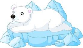 Historieta blanca del oso polar Foto de archivo