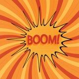 Historieta boom-3 fotografía de archivo