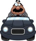 Historieta Boss Driving stock de ilustración