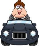 Historieta Boss Driving Angry stock de ilustración