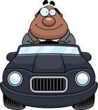 Historieta Boss Driving Happy stock de ilustración