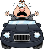 Historieta Boss Driving Panic libre illustration