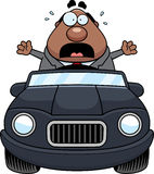 Historieta Boss Driving Panic stock de ilustración