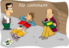 Historieta cómica ningún comentario Imagen de archivo
