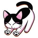 Historieta Cat Isolated On White Background linda stock de ilustración