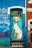 Historieta Cat Street Art Fotos de archivo