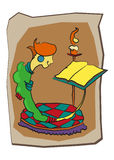 Historieta character#6 stock de ilustración