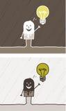 Historieta coloreada idea Foto de archivo libre de regalías