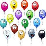 Historieta colorida de los globos Foto de archivo