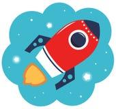 Historieta colorida Rocket Fotografía de archivo libre de regalías