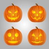 Historieta de Halloween de las calabazas ilustración del vector