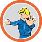 Historieta de Hands Out Circle del constructor Foto de archivo libre de regalías