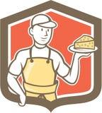 Historieta de Holding Parmesan Cheese del quesero Imágenes de archivo libres de regalías
