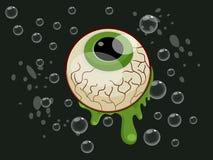 Historieta de la bola del ojo de Halloween en fondo Fotos de archivo libres de regalías