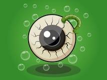 Historieta de la bola del ojo de Halloween en fondo Foto de archivo libre de regalías