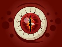 Historieta de la bola del ojo de Halloween en fondo Imagen de archivo