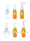 Historieta de la botella Imagen de archivo libre de regalías