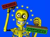 Historieta de la burocracia en la unión europea Fotos de archivo