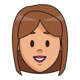 historieta de la cara de la mujer libre illustration